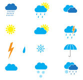 Weather icons. Set of weather icons for web Stock Photography