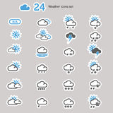 Weather Icons set Stock Photos