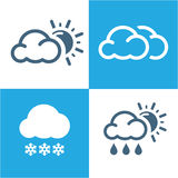 Weather Icons set with White Background vector EPS10 Stock Images