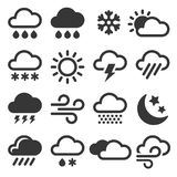 Weather Icons Set Stock Photography