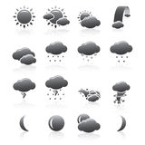 Weather Icons Silhouette Series Stock Images