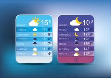 Weather icons  for the smartphone. Stock Photography