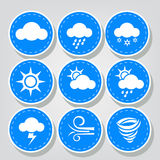 Weather Icons Stitched Sets Royalty Free Stock Photography
