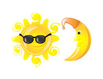 Weather icons  sun glasses,vector Stock Photography