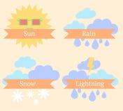 Weather icons stock illustration