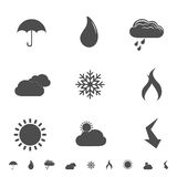 Weather icons and symbols Royalty Free Stock Images