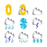 Weather icons Stock Images