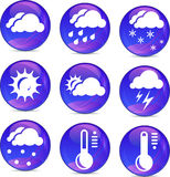 Weather icons in vector Stock Photo