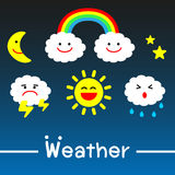 Weather icons - vector Royalty Free Stock Photos