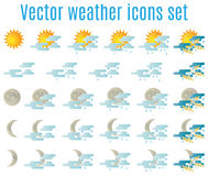 Weather icons 02 Stock Photos