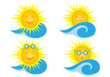 Weather icons. Vector illustration of weather icons Stock Photography