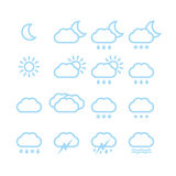 Weather icons. A vector illustration of different weather icons Royalty Free Stock Photography