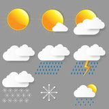 Weather icons. Vector illustration. Stock Images
