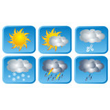 Weather icons, vector Stock Photo