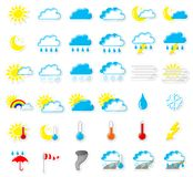 Weather icons. Vector illustration of a set of weather icons royalty free illustration