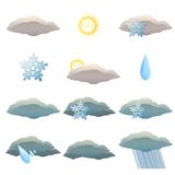 Weather icons Stock Photo