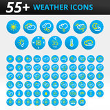 Weather icons vector pack Stock Image