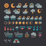 Weather icons. Vector set from weather icons Stock Photos