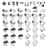 Weather icons on a white background Royalty Free Stock Photo