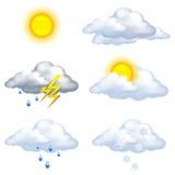 Weather icons. On white background Stock Image