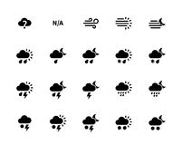 Weather icons on white background. Additional part. Vector illustration Royalty Free Stock Image