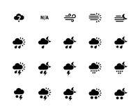 Weather icons on white background. Royalty Free Stock Image