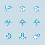 Weather Icons with White Background Stock Image