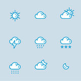 Weather Icons with White Background Royalty Free Stock Images