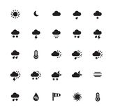 Weather icons on white background. Royalty Free Stock Photography