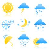 Weather icons2 Royalty Free Stock Photography