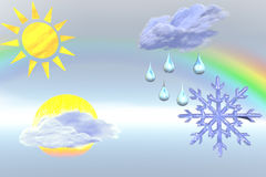 Weather  illustration. Stock Images