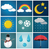 Weather Illustration Set Royalty Free Stock Image