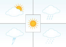 Weather illustrations Stock Photography