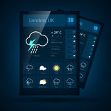 Weather informer. Vector illustration Royalty Free Stock Photo