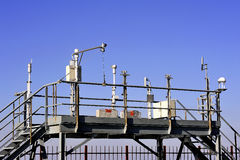 Weather installation of equipment Stock Image
