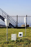 Weather installation of equipment Stock Photo