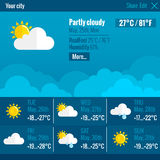 Weather Interface Flat Concept Royalty Free Stock Photos