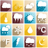 Weather items Royalty Free Stock Images