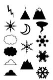 Weather land collection Royalty Free Stock Images