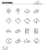 Weather line icon Stock Photo