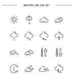 Weather line icon Stock Image
