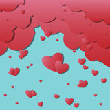 Weather of love. Vector Weather of love background eps10 Stock Photography