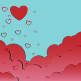 Weather of love. Vector Weather of love background eps10 Royalty Free Stock Photo
