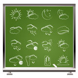 Weather and meteorology icons Royalty Free Stock Images