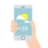 Weather mobile application Royalty Free Stock Photography