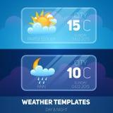 Weather Mobile Application vector illustration