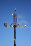 Weather monitoring station. Small solar powered weather monitoring station royalty free stock photography