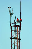 Weather monitoring tower Royalty Free Stock Images