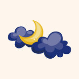 Weather moon theme elements. Vector illustration file Royalty Free Stock Images