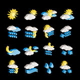 Weather and nature icons Stock Photo